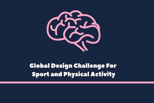 Logo of the Global Design Challenge, to tackle the problems facing sports and physical activity as a result of Covid-19.